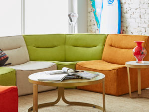 F3 Byrley modular sofa for student housing