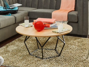 F3 iLive round coffee table for student housing