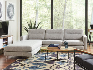 F3 iLive sofa with chaise student housing furniture
