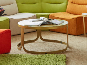 F3 NOLA round coffee table student housing furniture
